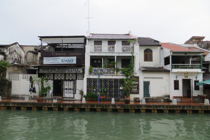 View of Wayfarer Guesthouse from across the river